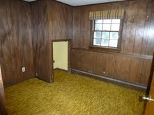 Room needs paint and neutral carpeting