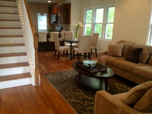 After staging - furniture shows buyers best way to use this open space