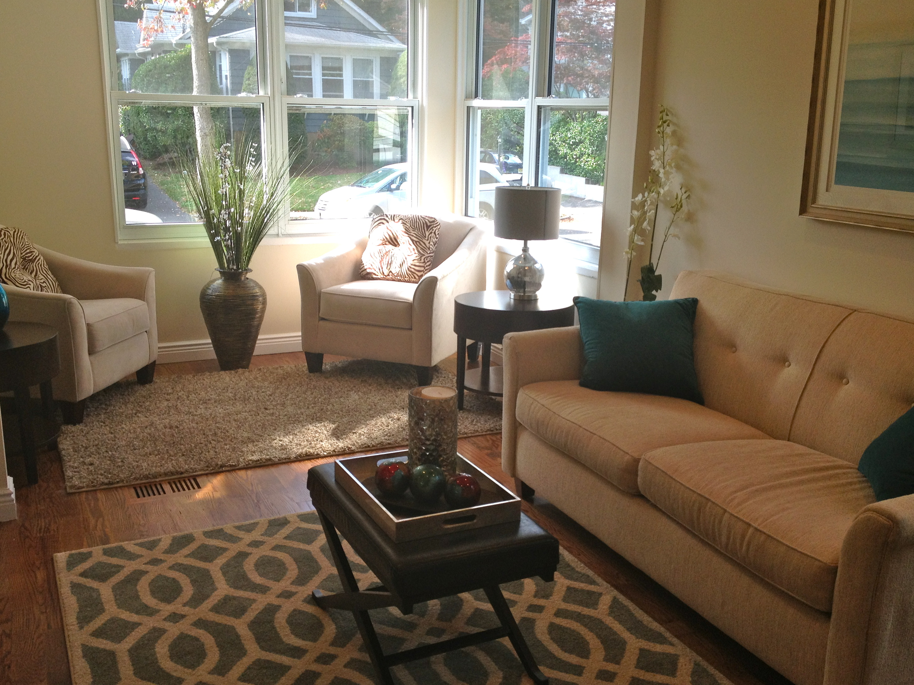 After Staging   How To Blend The Space Into One Cohesive Room
