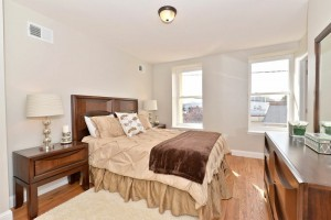 After staging, home got offer in a few days -- buyers could see queen bed, dresser, and nightstands fit into room.